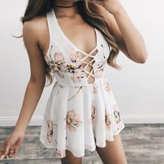 Lina White Floral Romper