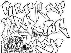 Graffiti Letter Study R