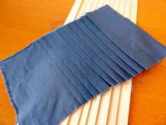 Pleating board (instructions on how to make one). These are soooo pricey ready made. Video tutorial too.