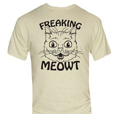 Freaking Meowt T-Shirt-Funny Humorous Novelty Shirt-Large-Charcoal Delta http://www.amazon.com/dp/B017AF8AGS/ref=cm_sw_r_pi_dp_t56owb1WEY5H1 #apparel #tshirts #menswear #funnyshirts #cat #meow #scared