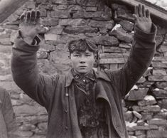 A young SS soldier captured by the U.S. 3rd Armored Division in Belgium on January 15.