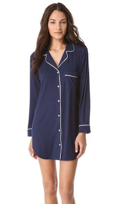 Hands down a must have. I wore this at the hospital. I've given it as a gift with the pocket monogrammed for a new mom. Soft and hides everything!!!! Eberjey Gisele Sleep Shirt