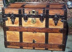 Old Vintage Trunks | Antique Trunks For Sale, Refurbished Antique Trunks, Restored Trunks ...
