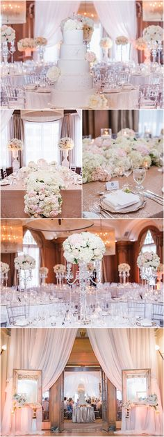 Featured: Blush Wedding Photography; Glamorous wedding reception idea