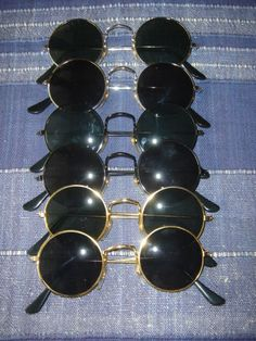 Lot : 6 x Sunglasses John Lennon Style 70s Style Glasses Seventies hippie set 1