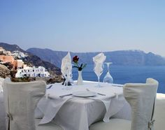 Ambrosia Restaurant located on the Greek island of Santorini.