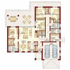 DOM.PL™ - Projekt domu DA Sonia 2 PS CE - DOM DS3-17 - gotowy koszt budowy My House Plans, Architect House, Small House Design, Facade House, House Layouts, Better Life, Planer, Sweet Home, New Homes
