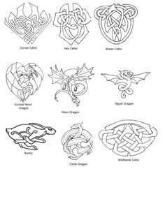 Dragons and celtic knots