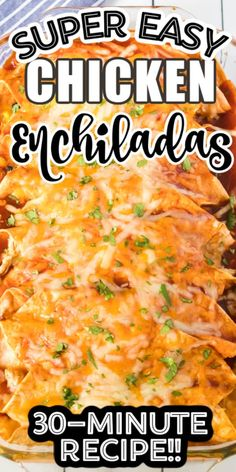 The BEST Chicken Enchilada Recipe! Shredded chicken rolled up in a soft, flour tortilla with cheese and all of your favorite fillings and toppings and smothered with enchilada sauce! A family favorite homemade recipe! Best Chicken Enchilada Recipe, Recipe For Chicken Enchiladas, Shredded Chicken Enchiladas, Easy Chicken Enchilada Casserole, Best Enchiladas, Homemade Enchilada Sauce, Easy Dinner Recipes, Easy Meals, Dinner Ideas
