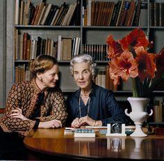 Queen Margrethe II with her mother Queen Ingrid