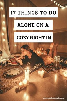 Cozy nights in are my favorite way to spend cold dark long nights. If you are looking for a little i - Cozy nights in are my favorite way to spend cold dark long nights. Relaxing Things To Do, Things To Do At Home, Things To Do When Bored, Things To Do Alone, Diy Things, Cozy Aesthetic, Night Aesthetic, Simple Living Blog, Hygge Life