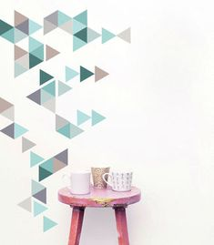 I've just found Geometric Triangles Vinyl Wall Sticker Set. A fabulously trendy way to add something interesting and unique to your home. Use these triangles to create shapes and patterns on your own walls. Wall Stickers Geometric, Geometric Wall, Vinyl Wall Stickers, Wall Decals, Wall Vinyl, Geometric Patterns, Letter Wall Decor, Home Wall Decor, Triangle Wall