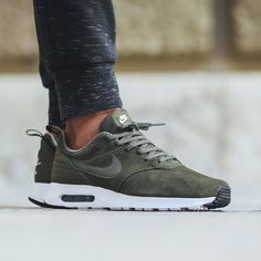 Nike Air Max Tavas Leather - Cargo Khaki/Cargo Khaki available now in-store and…