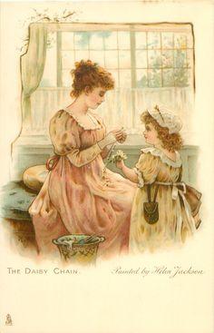 """""""The daisy chain"""" by artist Helen Jackson, 1905."""