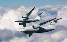 Download wallpapers Antonov An-148, 4k, Ukrainian passenger plane, new airplanes, air travel concepts, Antonov