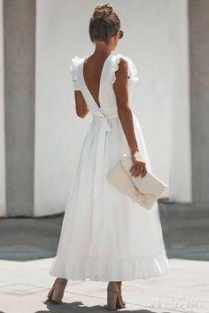 Tara maxi wrap dress in white - Maxi Shirt Dress, Maxi Wrap Dress, Dress Skirt, Dress Up, White Wrap Dress, White Dress Summer, Boho Dress, Prom Dress, Elegant Dresses