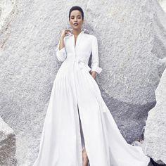 Carolina Herrera Shirtdress Wedding Dress