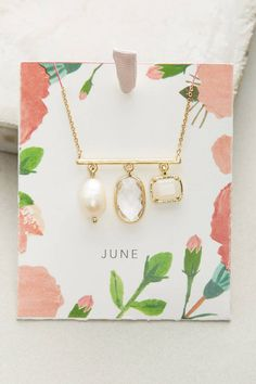 Anthropologie Birthstone Necklace
