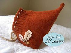 Pixie Hat  PDF Pattern  Autumn Leaves by BigLittle on Etsy, $6.00