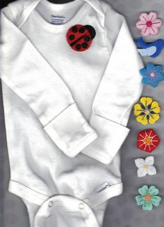 Onesie with snap-on embellishments