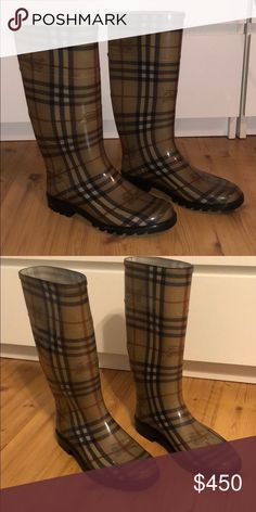 Shop Women's Burberry size 7 Winter & Rain Boots at a discounted price at Poshmark. Description: In very good condition worn about 5 times tops. Size Sold by lexiscaduto. Burberry Rain Boots, Burberry Shoes, Winter Rain, Fashion Tips, Fashion Design, Fashion Trends, Riding Boots, Times, Best Deals
