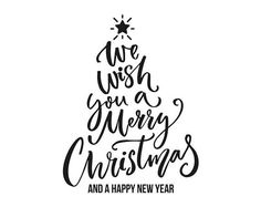 We wish you a Merry Christmas Vector, christmas tree, Printable - Cameo - Iron on Transfer - Cricut Merry Christmas Typography, Merry Christmas Vector, Wish You Merry Christmas, Christmas Things, Christmas Cards, Christmas Tree Printable, Gravure Laser, Brush Lettering, Brush Script