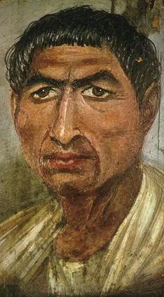 "Roman-Egyptian ""fayum"" portrait"