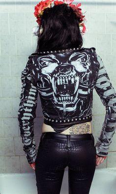 TOXIC VISION Motorhead studded motorcycle jacket