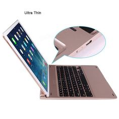 Only US$57.99, buy best Aluminium Wireless Bluetooth Keyboard Stand Case With 7 Color Backlight For iPad Pro 12.9 Inch sale online store at wholesale price.US/EU warehouse.