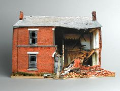 If It's Hip, It's Here (Archives): Small Scale Models of Decaying Homes Built and Photographed by Ofra Lapid.