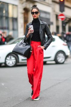 From wide-cut track pants to billowy tailored trousers, the look that feels undeniably fresh for 2017 is on...