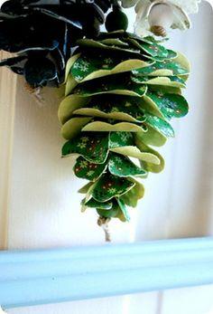 Craft Tutorial: Fabric Pinecones