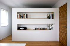 反対側からみた所 253 Decor, House Design, House, Shelves, Interior, Bookcase, Home Decor, Closet, Renovations