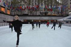 JoJo's Cool Workout at the Ice Skating Rink at Rockefeller Center Photo Gallery: Olympic Ice Skater JoJo Starbuck Teaches a Class at Rockefeller Center