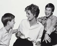 Princess Diana, Prince William, and Prince Harry.