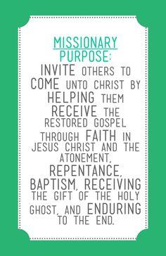 Missionary Purpose  sisteroliviaearl.blogspot.com