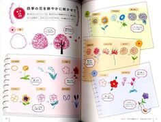 Cute and Easy Ballpoint Pen Illustration Lesson Book Japanese Craft Book Pen Drawings, Easy Drawings, Drawing Sketches, Pen Doodles, Bujo Doodles, Pen Illustration, Japanese Illustration, Pretty Flower Drawing, Drawing Notepad