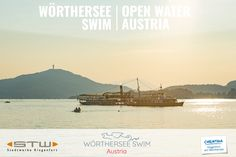 """Open Water Austria!  The Woerthersee is one of the most beautiful lakes in Austria.  For us it is simply the most beautiful lake.  Located in the south of Austria, close to the border of Slovenia and Italy, it is famous for its mediterranean flair!  The start of the 17 k distance is in Velden! A famous vacation spot - the """"Nice"""" of the Alps!  The start of the distances 10 k and 9 k is in Pörtschach. There are beautiful bays in which you can let your mind wander, viewing the… Carinthia, Klagenfurt, Open Water Swimming, Bays, Slovenia, Vacation Spots, Austria, Distance, Wander"""
