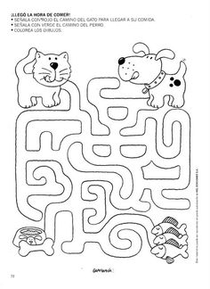 Crafts,Actvities and Worksheets for Preschool,Toddler and Kindergarten.Lots of worksheets and coloring pages. Kids Learning Activities, Preschool Activities, Teaching Kids, Animal Worksheets, Kindergarten Worksheets, Mazes For Kids Printable, Free Printable, Maze Worksheet, Kids Education