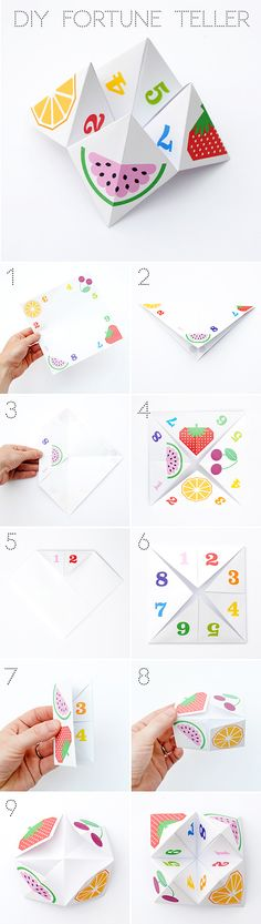 #diy #origami #fortuneteller#aperfectlittlelife ☁ ☁ A Perfect Little Life ☁ ☁ www.aperfectlittlelife.com ☁