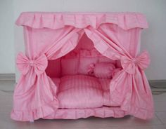 Gorgeous Handmade Princess Pet Dog Cat Bed House + 1 Candy Pillow in Pet Supplies, Dog Supplies, Beds | eBay