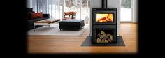 Regency Alterra CS1200 Wood Stove shown with metallic black side panels