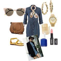Trending Topics: Chambray Shirtdress by stylist-tiadanielle on Polyvore featuring polyvore fashion style maurices Tory Burch Chloé Michael Kors Blue Nile Fendi Henri Bendel Essie #fashion #style #womensfashion