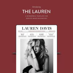 Photographers, designers and other portfolio-based businesses can utilize the bold graphic style of the Lauren website template made especially for Wordpress. . Focused on highlighting large images, showcasing your best work, this template includes a sales page format, contact forms, and portfolio gallery displays ❤️🤩🖤. Show your work off in a powerful and unique way. Lauren Davis, You Better Work, Wordpress Template, Follow Me On Instagram, Website Template, Sentences, Photographers, Designers, Templates