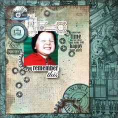 Kaisercraft : Time Machine Collection : Remember This layout by Amanda Baldwin