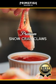 Get premium Canadian Snow Crab Cocktail Claws delivered to your door with Prime Fish. They are fully cooked, wild caught, sustainable and easy to prepare. Lobster Dishes, Fish Dishes, Crab Recipes, Appetizer Recipes, Appetizers, Seafood Dinner, Fish And Seafood, Chicken Wing Recipes, Crab Cakes