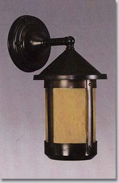 """Round Mission Arts And Crafts Outdoor Wall Lantern 11"""""""