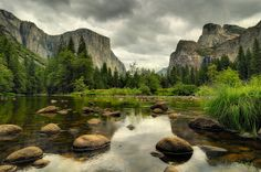 Storm over Valley View, Yosemite National Park by andrew c mace, via Flickr