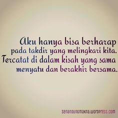 Aku berharap pada takdir #quotes #puisi #Indonesia