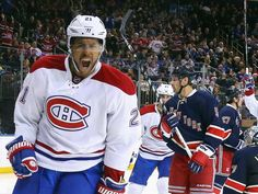 Nov.25 2015 - Mtl 5 - NYR 1 - Canadiens' Devante Smith-Pelly of the celebrates his second goal of the game against the Rangers at 17 seconds of the third period at Madison Square Garden on November 25, 2015 in New York City.  The Canadiens defeated the Rangers 5-1.